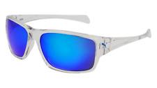 NEW PUMA SPORT SUNGLASSES PE 0002S 001 61 CRYSTAL CLEAR GRAY MIRRORED BLUE