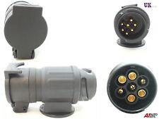 13 to 7 Pin Trailer Truck Waterproof Electric Towing Bar Plug Adaptor Socket