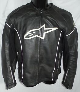 Alpinestars Motorrad Racing Leder (Echtleder) Jacke Protektoren Gr. 50 (M-L)