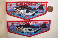 MERGED OA NANEPASHEMET LODGE 158 52 BSA YANKEE CLIPPER PATCH FISH SMALLER FLAP