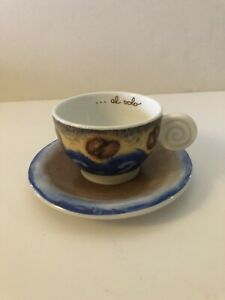 Thun Al Volo 6oz Cup and Saucer Made in Italy Coffee Beans