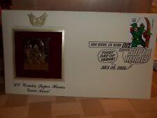 2006 SAN DIEGO COMIC CON GREEN ARROW 22K STAMP 1st DAY ISSUE ART JACK KIRBY Comic Art