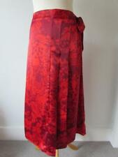 MARKS & SPENCER PER UNA Red Floral Satin Midi Wrap Skirt Size 16 BNWT RRP £49.50