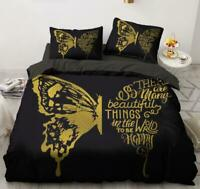 3D Yellow Wings ZHUA1199 Bed Pillowcases Quilt Duvet Cover Set Queen King Zoe