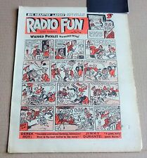 "VINTAGE  FLEETWAY  ""RADIO FUN""  COMIC #510  DATED  JULY 17th 1948"