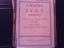 Charles Ives: Varaitions on America; Adeste Fidelis, Organ (Mercury)