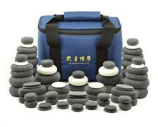 MassageMaster HOT/COLD STONE MASSAGE SET: 72 Basalt & Marble Stones