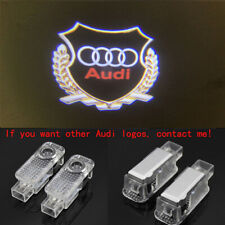 Audi Gold 2X LED Light 3D Logo Projector Emblem Ghost Shadow Door Welcome Light