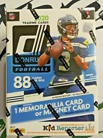 2020 NFL Donruss Football Trading Card Blaster Box NEW SEALED FAST FREE SHIPPING