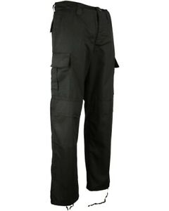 """Kombat Tactical Issue M65 BDU Ripstop Cargo Combat Trousers Stealth Black W30"""""""