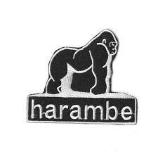 HARAMBE GORILLA Iron On / Sew On Patch Embroidered Badge Motif PT370