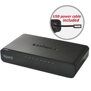 8-Port Gigabit Ethernet Network Switch USB Powered Plug-n-play Edimax ES-5800G