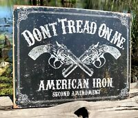 DTOM American Iron Vintage Metal Tin Sign Wall Decor Garage Man Cave Home Shop