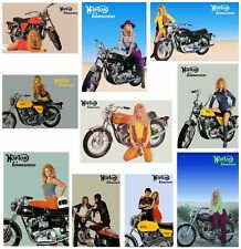 NORTON Posters 750 Commando FULL set of 10 Suitable to Frame