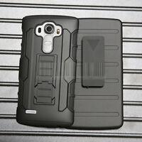 Armor Shockproof Hybrid Rugged Rubber Hard Holster Phone Case Cover For LG G4