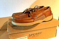 Sperry Men's, Intrepid 2 Eye Boat Shoe dark tan choose size