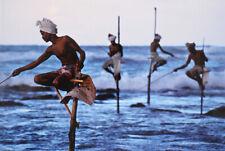 Steve McCurry/Magnum Photos 'pescadores, Sri Lanka, 1995' Litografía