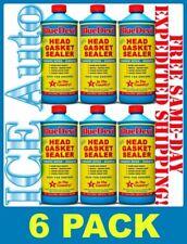 6 PACK of BLUE DEVIL Permanent Sealer Head Gasket Sealant #38386 32 oz