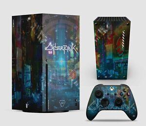 Cyberpunk  - Xbox Series X Vinyl Skin Decal Sticker - Easy to Apply