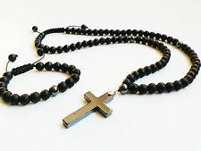 Handgefertigt Modeschmuck-Halsketten & -Anhänger aus Edelsteinen mit Onyx