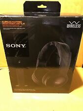 Sony MDR-RF985RK Wireless FM Over-the-Ear Headphones Black GREAT FOR TV !!