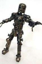 Custom Folk Art Welded Metal Iron Man Mark 1 Statue