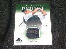 Joe Durant Upper Deck Certified Authentic Event Worn Golf Shirt Card Rare /500