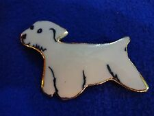 Cute White Kennel Rescue Dog With Docile Disposition Pin