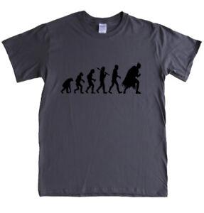 EVOLUTION BATMAN - XL - CHARCOAL t-shirt - movie comic book hero mens tee