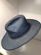 Vintage Denim Western Blue Jean Cowboy Hat Size 7 USA Made: The Wrangler