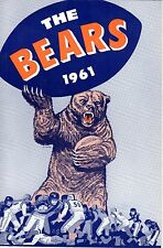 1961 Chicago Bears Football Media Guide, Bill George, Doug Atkins, Mike Ditka~EX