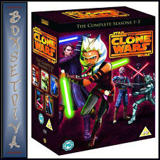 STAR WARS CLONE WARS - COMPLETE SERIES - SEASONS 1 2 3 4 & 5 **BRAND NEW DVD**