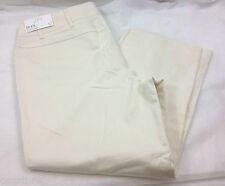 Ann Taylor Loft Laura Cropped Capris Stretch Casual Pants Womens Size 12 34 x 26