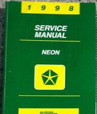 1998 DODGE MOPAR NEON Service Repair Shop Manual OEM 98 DEALERSHIP BOOK 1998 98