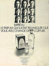 PUBLICITE ADVERTISING 044  1969  IMPREVU   parfum COTY