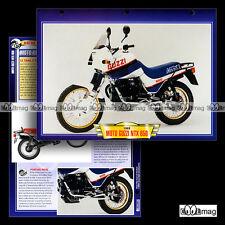 #136.07 Fiche Moto GUZZI NTX 650 1988 Trail Bike Motorcycle Card