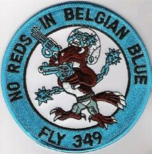 FIGHTING FALCON F-16 SWIRL COLLECTIONS: Belgian Air Force (BAF) 349 SQN No Red