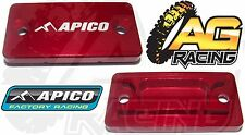 Apico Red Front Brake Master Cylinder Cover For Kawasaki KX 250 1993-2008 New