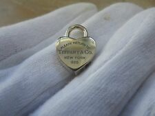 Tiffany & Co. Small  Sterling RTT  Heart Blue Enamel Pendant Key Ring.