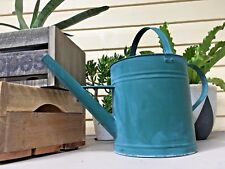 Willow Vintage Galvanised Metal Tin Watering Can Cottage Retro Rustic EUC