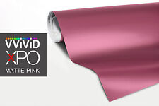 Pink Matte car vehicle wrap vinyl 75ft x 5ft sheet VViViD XPO cast film sticker