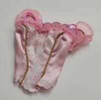 BARBIE DOLL CLOTHES PINK GLITTER PRINCESS DANCE BALLET BALLERINA TOP SHIRT STYLE