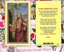 Good Morning God  - Style 2 - Laminated Holy Card