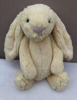 NEW Jellycat Medium Bashful Lemon Bunny Rabbit Soft Toy Comforter Yellow BNWOT