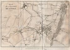 BATTAGLIA DI LUTZEN 1813. Lipsia Merseburg. SCHLACHT Von großgörschen 1820 Mappa