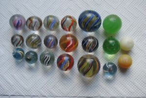 20 antique german hand made marbles