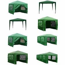 Gazebo Party Tent Marquee Garden Outdoor Waterproof PVC Standard or Pop Up Green