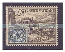 VATICANO 1952 -  CENTENARIO DEL I° FRANCOBOLLO  NUOVO **