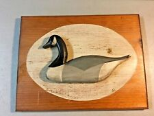 Vintage CANADA GOOSE Wooden Wall Plaque, ALL HAND CRAFTED, HAND PAINTED!