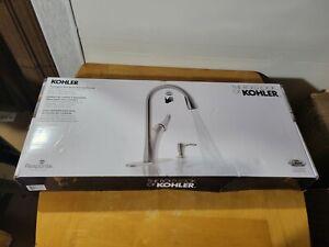 New Open Box Kohler Transitional Touchless Kitchen Faucet REC32323-SD-VS 1600204